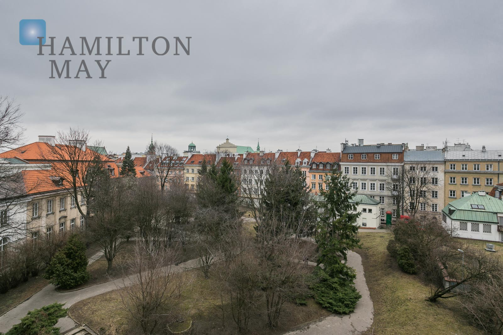 Duplex apartment by the Teatralny Square with a view over the park Warsaw for sale