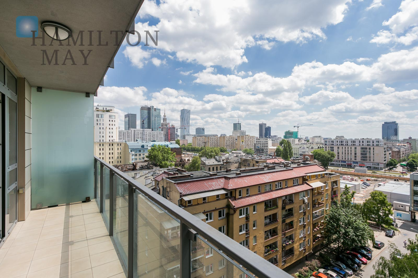 A one bedroom apartment with a panoramic view on Warsaw in Platinum Towers by Grzybowska street Warsaw for rent