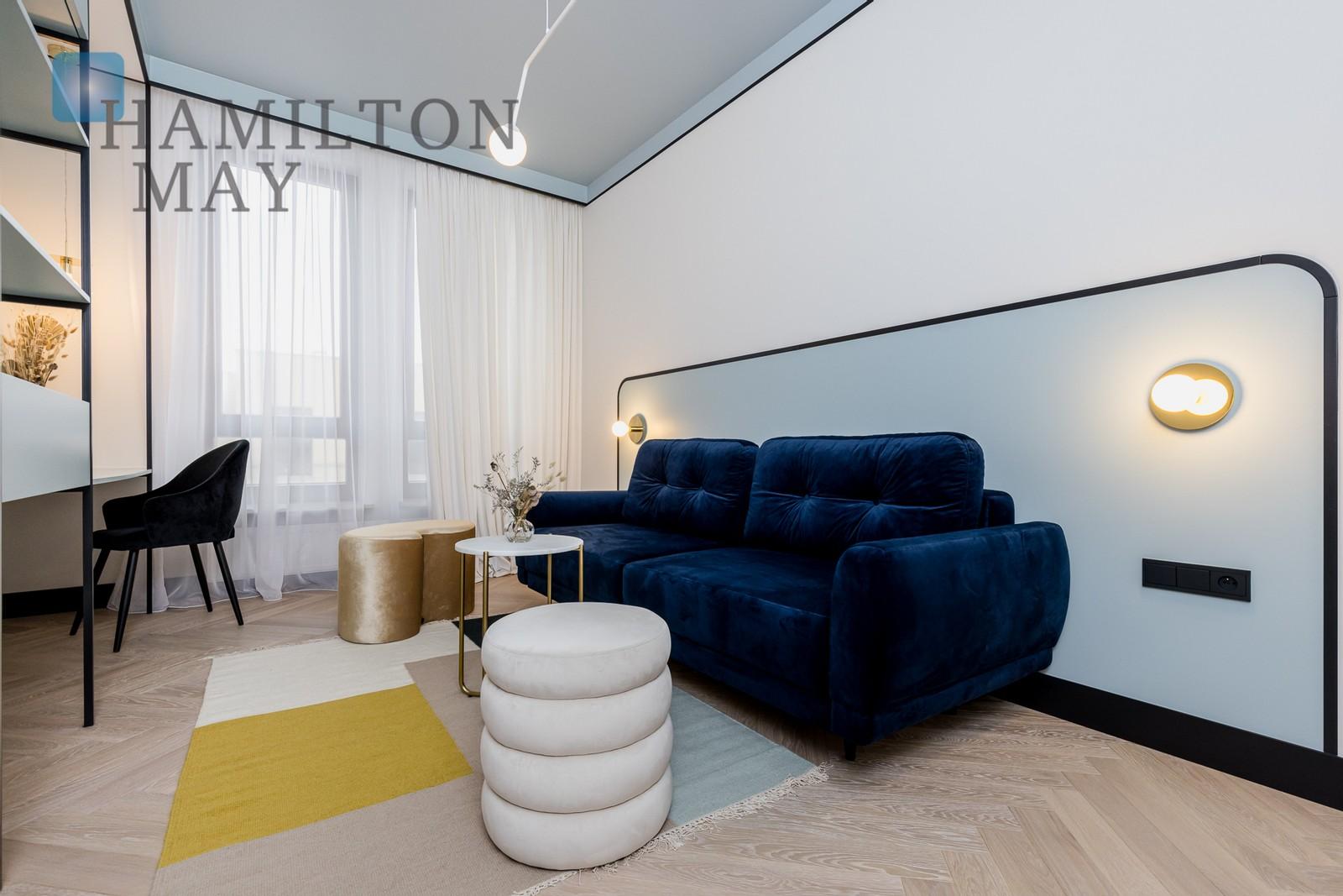 Elegancki, designersko wykończony apartament z trzema sypialniami w kameralnej inwestycji Ogrody Potoki II Warszawa na wynajem
