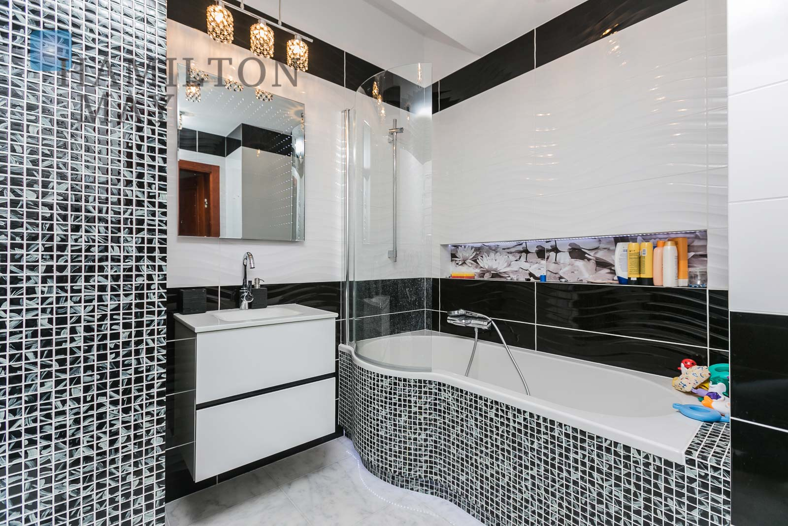 Luksusowe, czteropokojowe mieszkanie z dwoma tarasami w inwestycji Apartamenty Murano Warszawa na wynajem