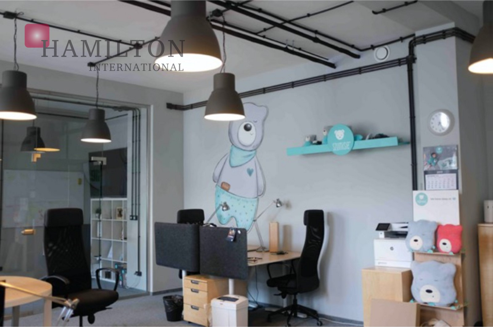 An intimate office in Praga Warsaw office space photo