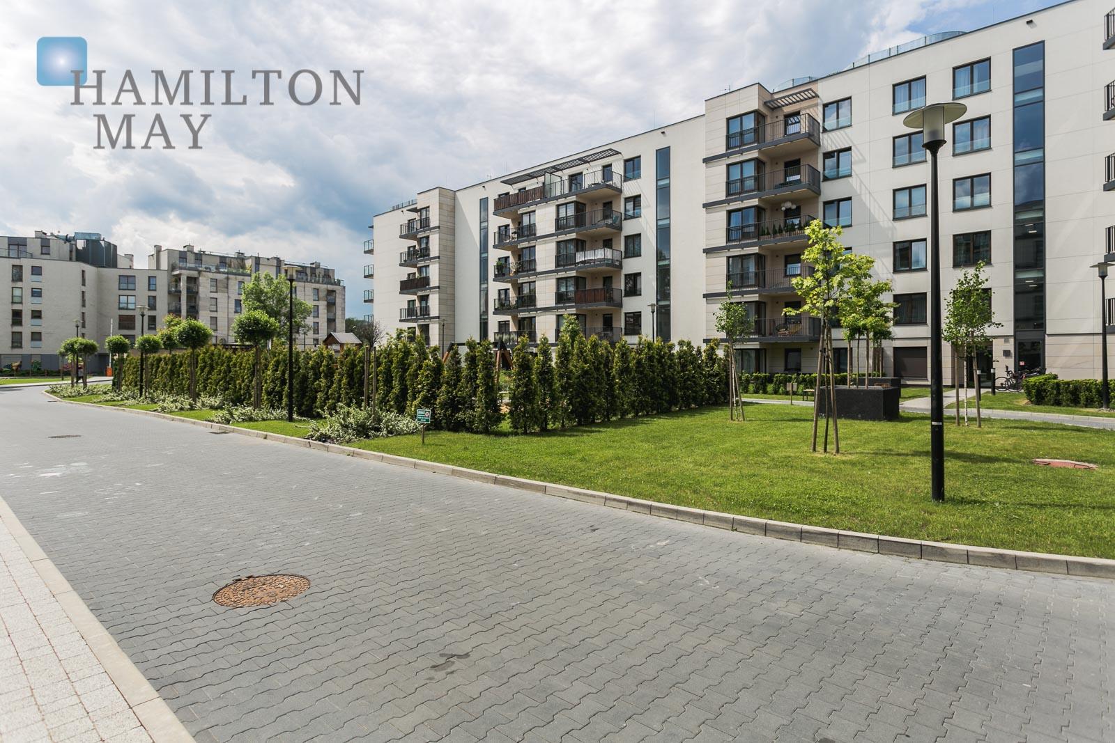 Niezwykły apartament z dużym tarasem i pięknym widokiem, w inwestycji - Dom pod Wilgą  Kraków na wynajem