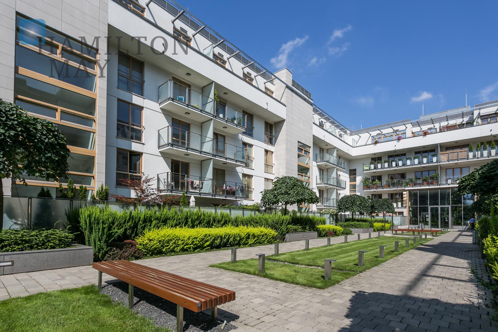Spacious two-bedroom apartment in the Narbutta Residence Warsaw for rent