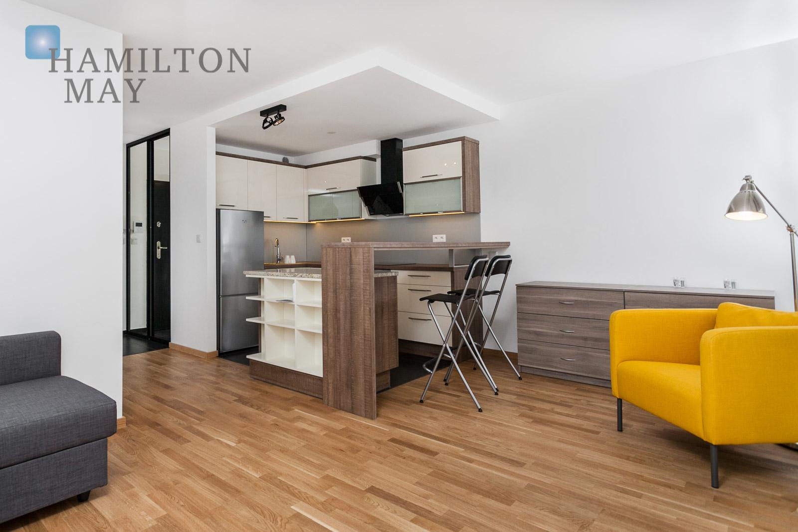 Modern studio apartment located on prestigious investment Nadwiślańska 11 Krakow for rent