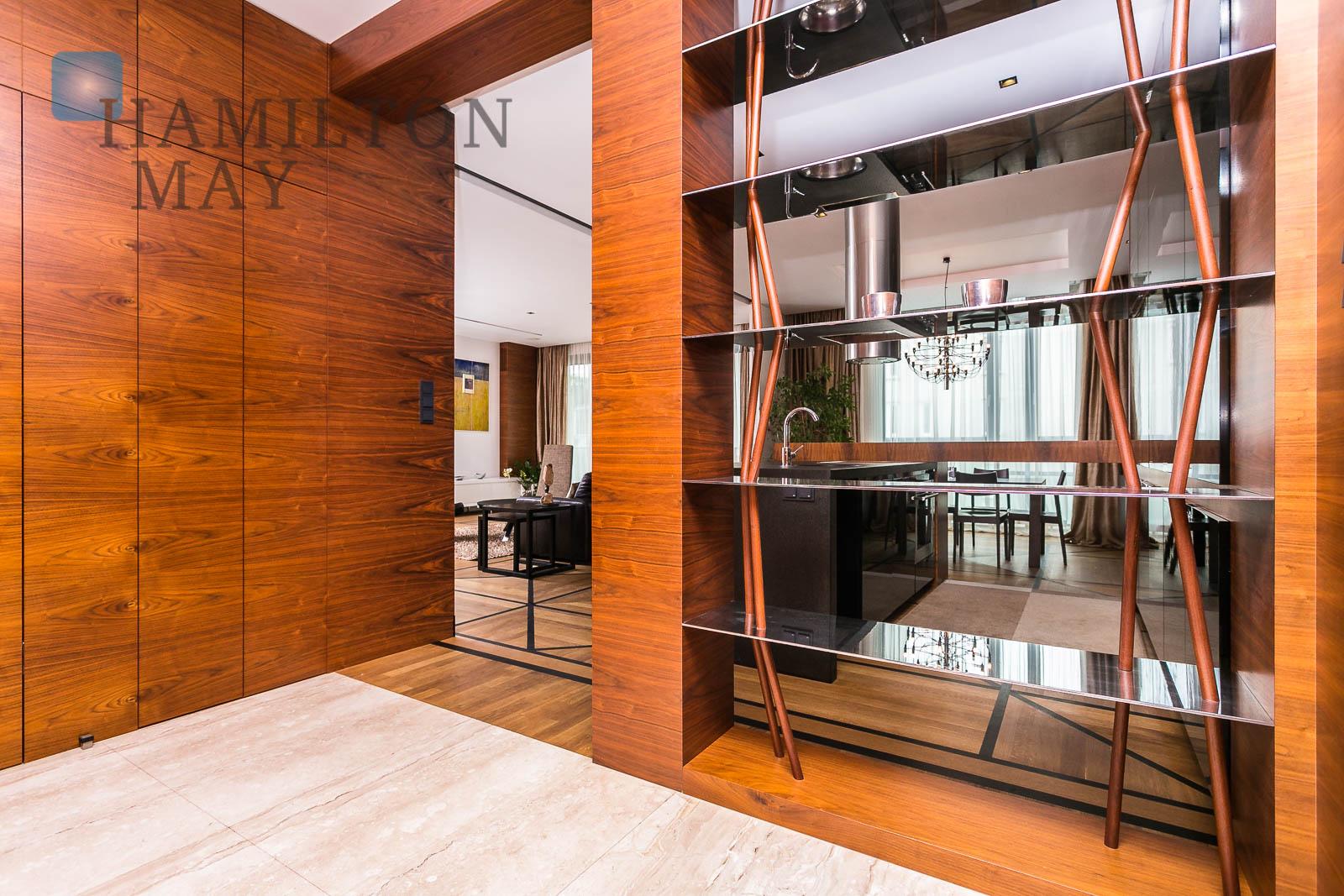 Unique, luxurious apartment in a prestigious investment nearby the Łazienki Królewskie Park Warsaw for rent