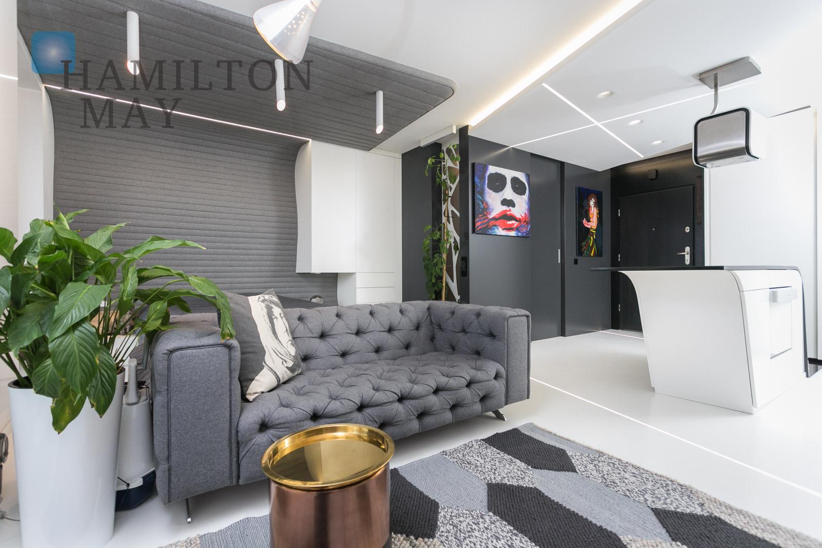 For rent modern studio apartment in Nadwiślańska 11 investment Krakow for sale