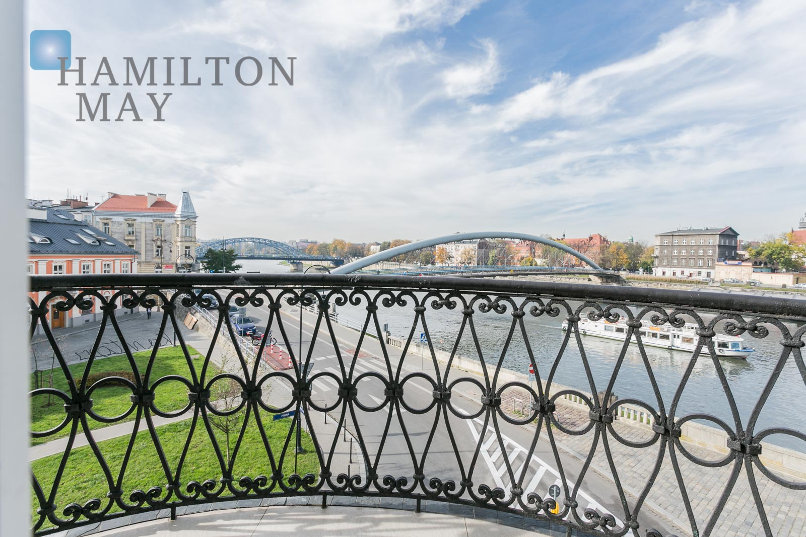 A unique, beautiful apartment with a view over the Vistula river Krakow for rent