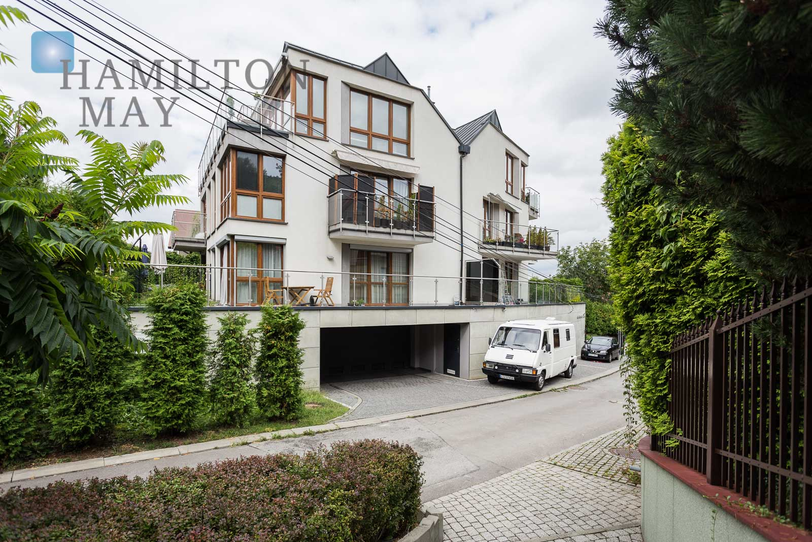A modern apartment with a view of the Las Wolski Krakow for sale