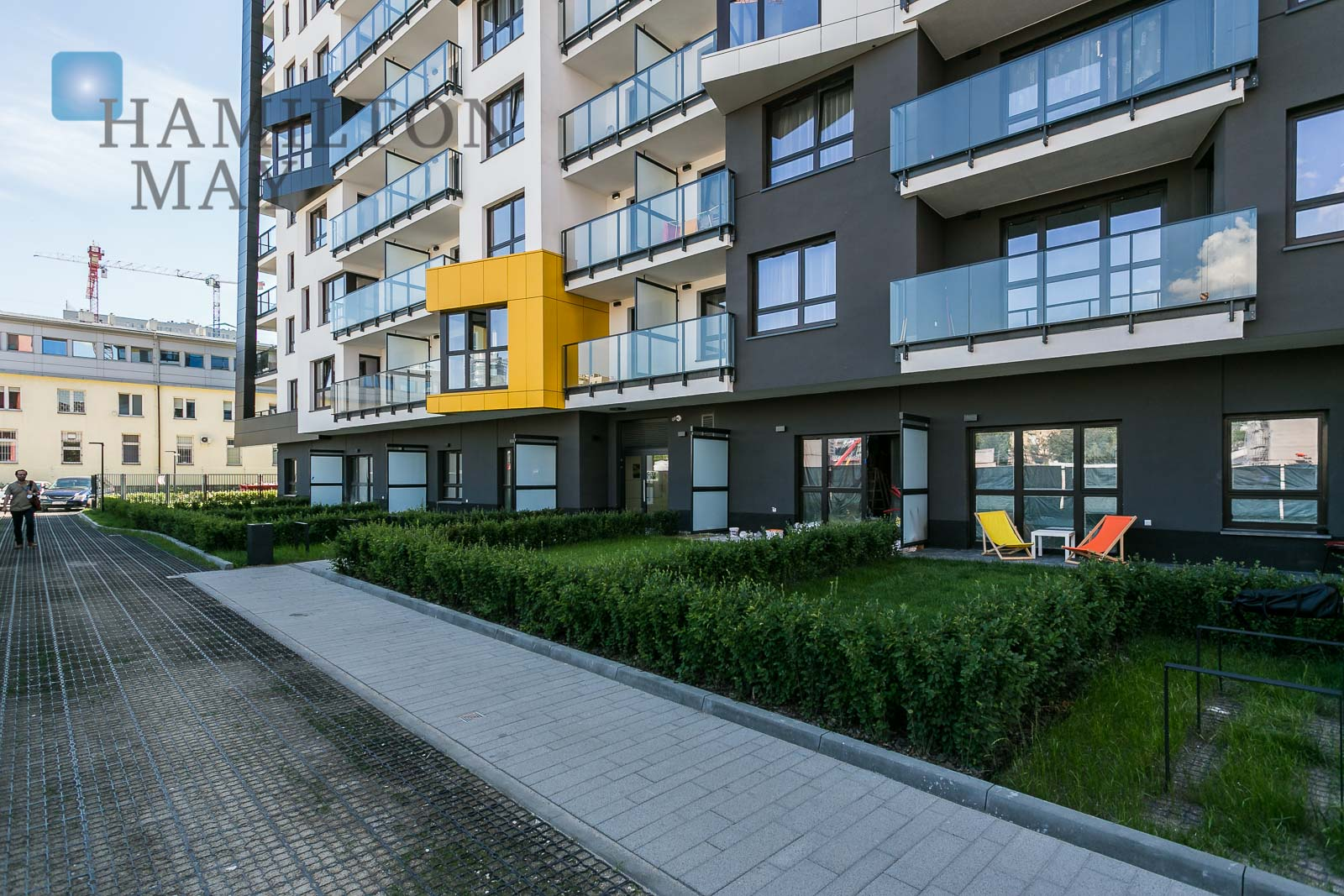New, spacious two bedroom apartment with a loggia in the City Link development Warsaw for sale