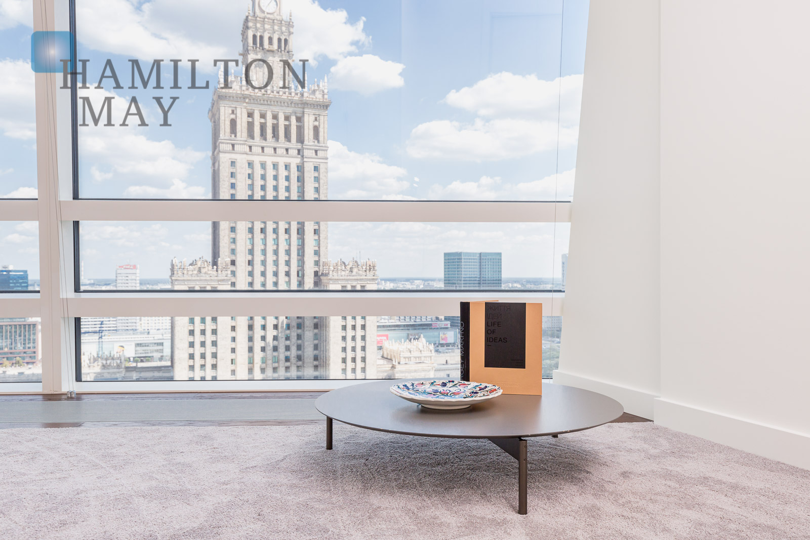 Elegant, spacious apartment with a view of the Palace of Culture in the Złota 44 development Warsaw for sale