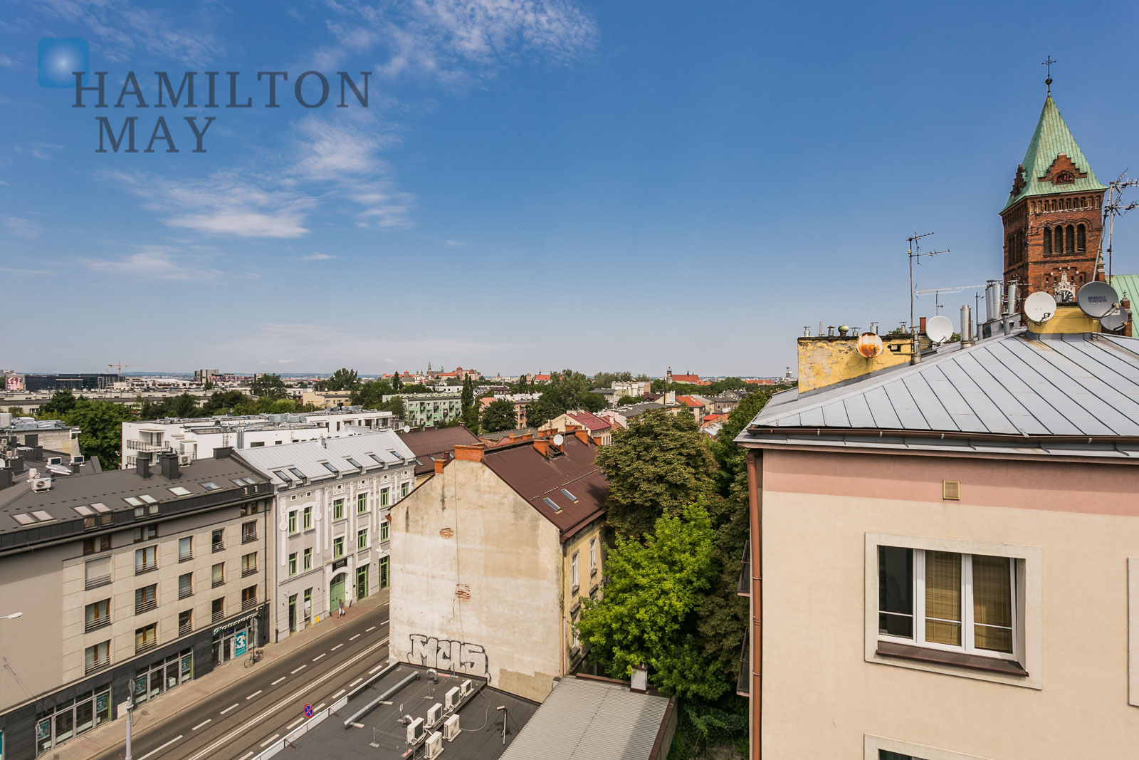 Luxurious and spacious 2- bedroom apartment in a modern investment in Podgórze Park Hill Krakow for rent