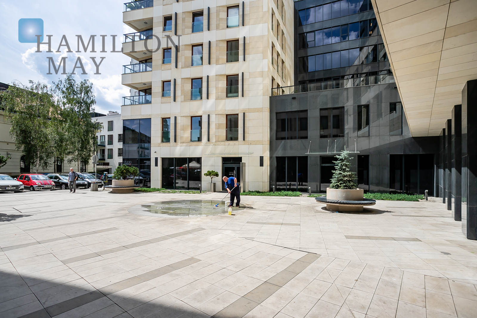 Two bedroom apartment in the Solec Residence development Warsaw for rent