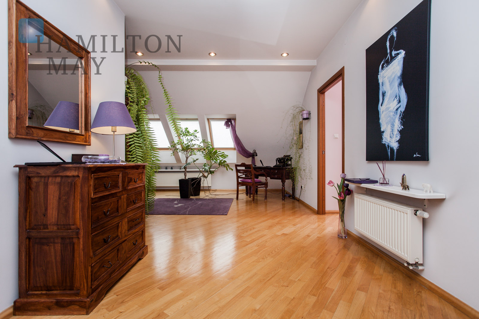 A 2-level apartment in a discreet residential building with a view over the Kościuszki Mound Krakow for sale