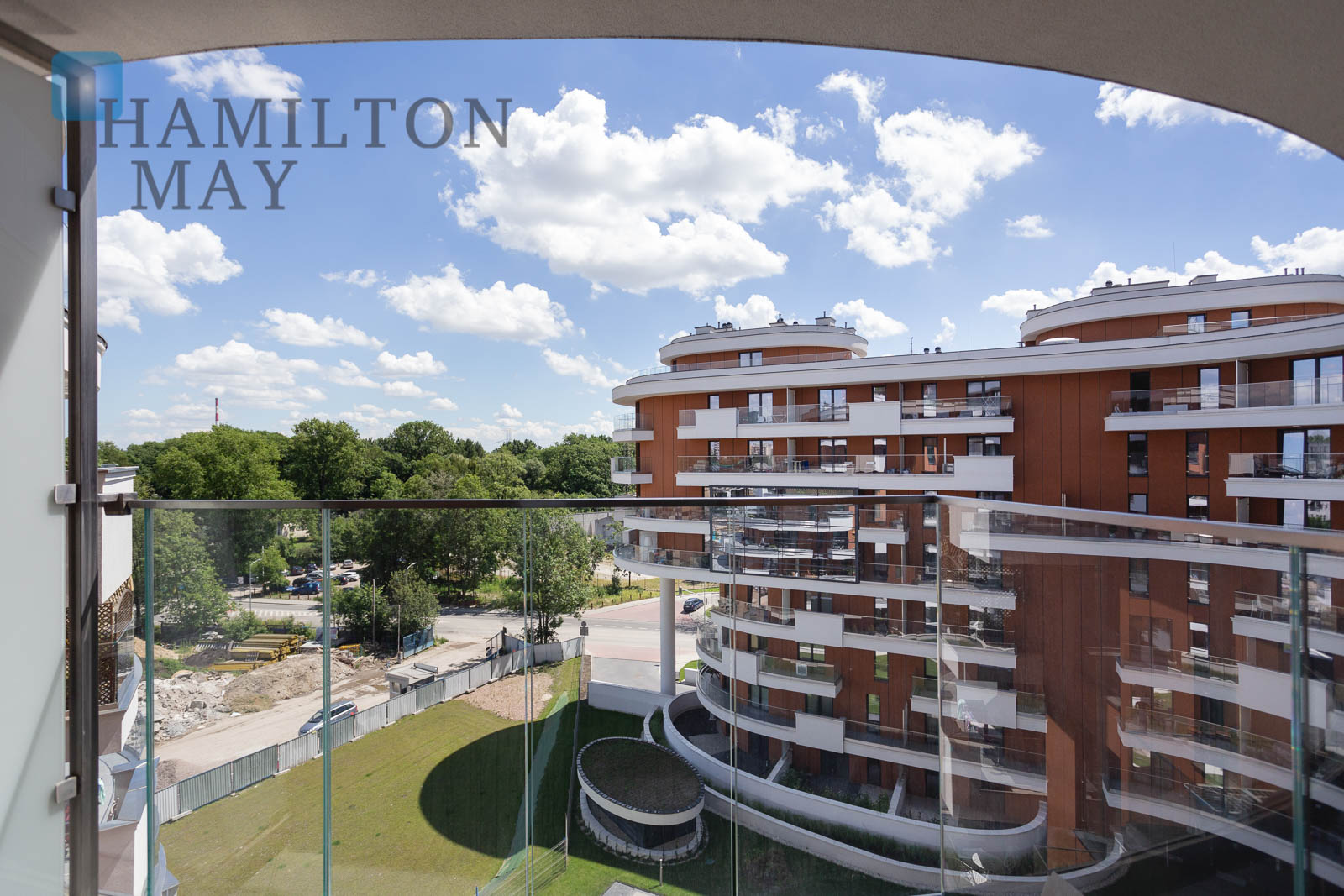 A modern apartment with a balcony in the prestigious Vistula Teraces 2.0 investment Krakow for rent