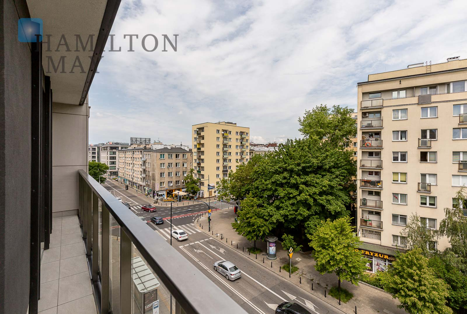 An apartment with a beautiful view in the Tamka 29 development Warsaw for rent