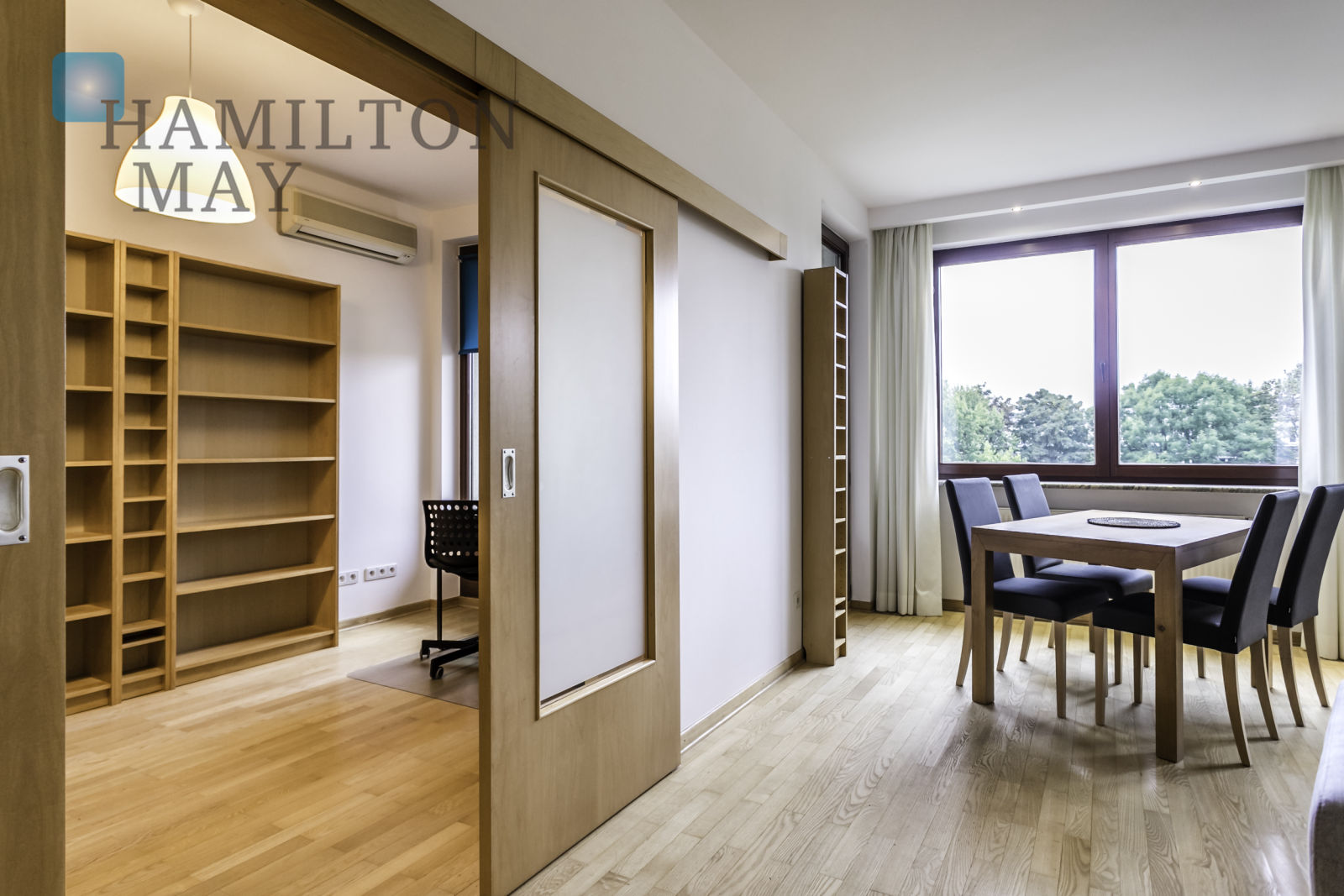 A spacious apartment with two bedrooms in Mokotów Warsaw for rent
