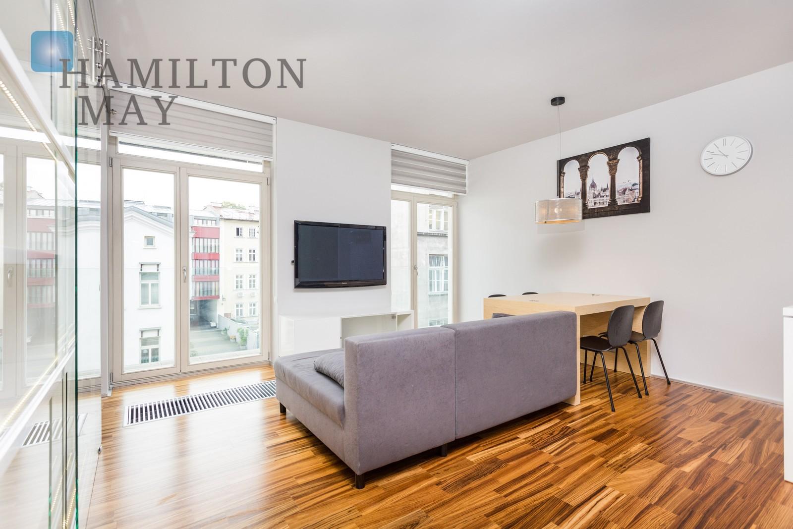 Modern rental apartment in city centre development Krakow for rent