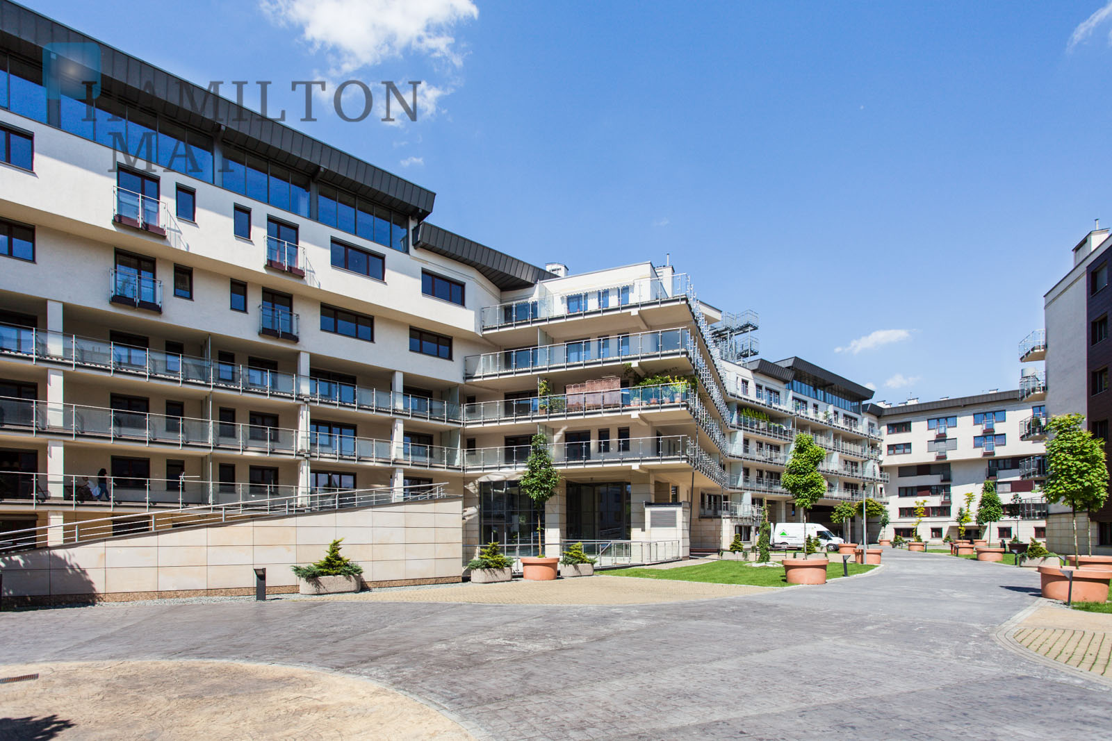 Modern apartment in the prestigious Ludwinów investment by the Vistula Boulevards Krakow for rent