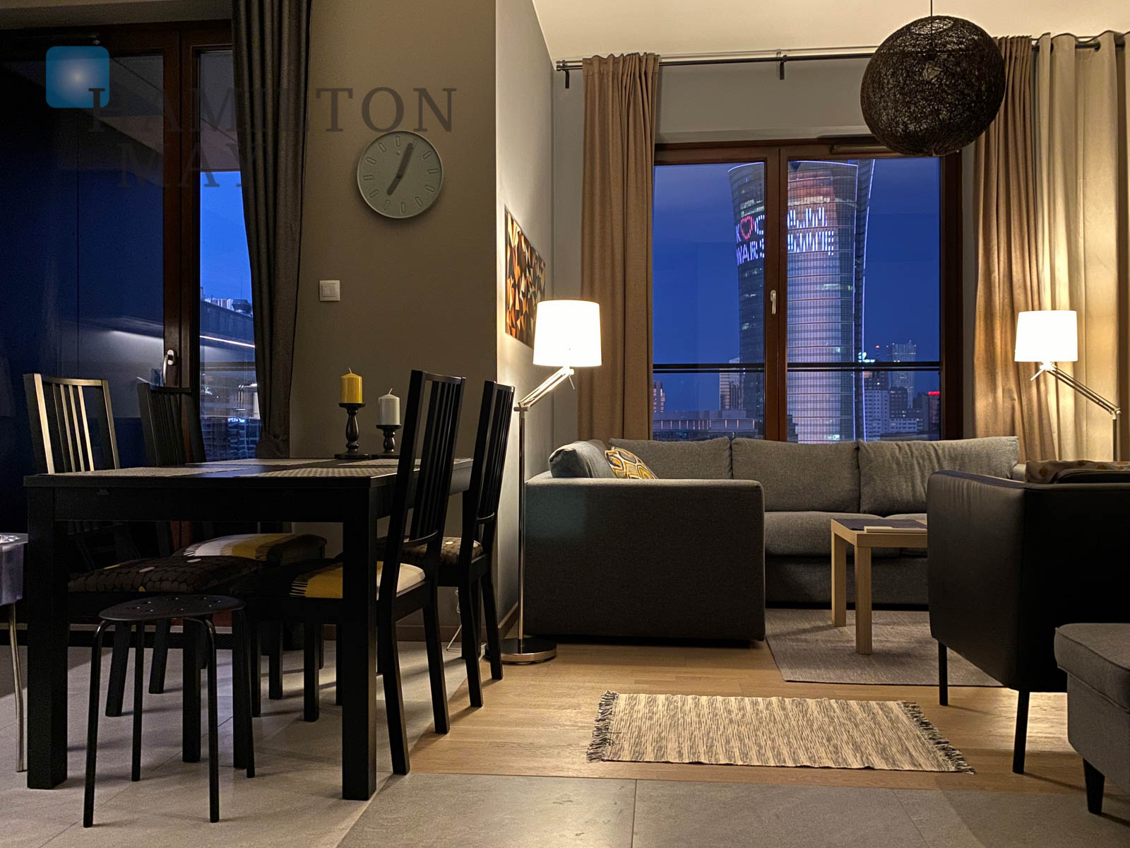 A two bedroom apartment on the top floor of the InCity residential development Warsaw for rent