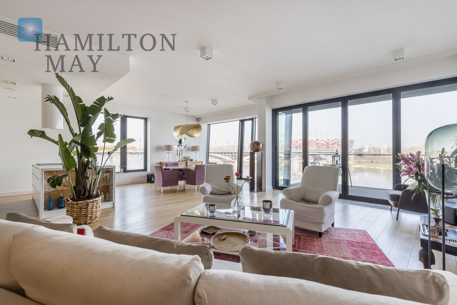 One of a kind, waterfront, three bedroom apartment for sale Warsaw for sale