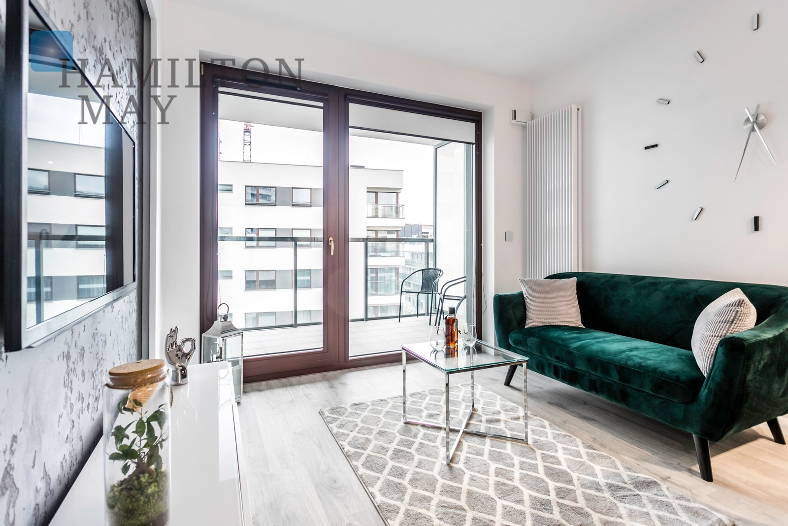 A modern one-bedroom apartment at Kłopot St. Warsaw for rent