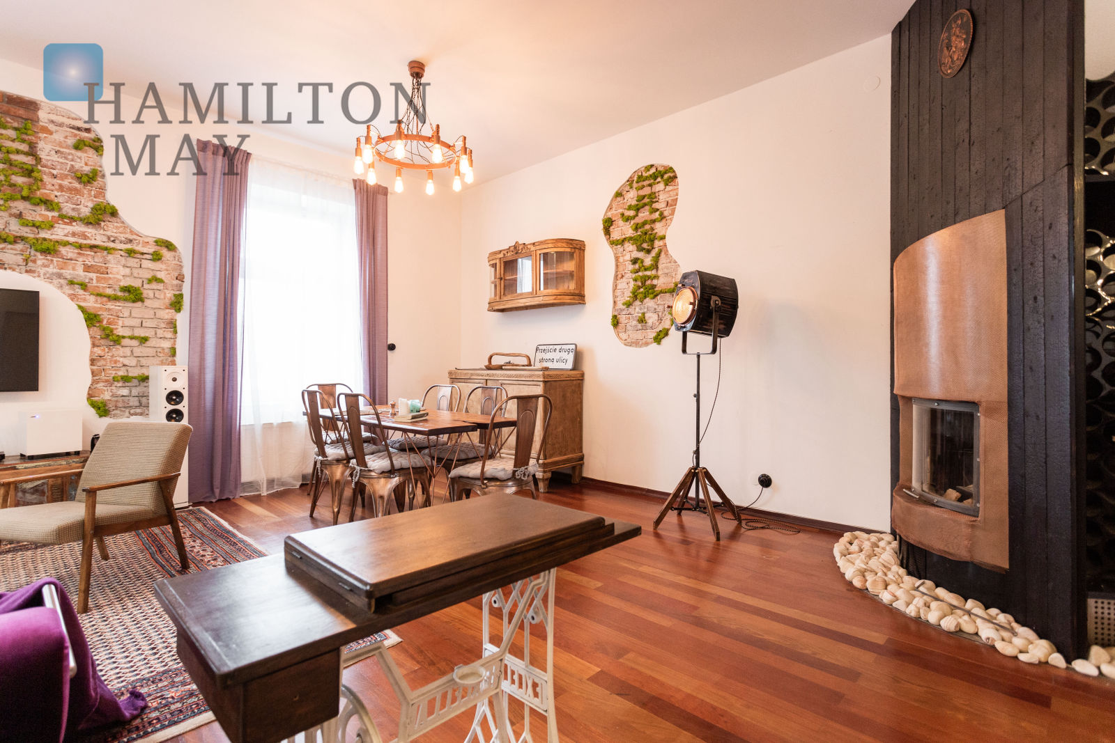 A 2-level, loft-style apartment offered for sale Krakow for sale