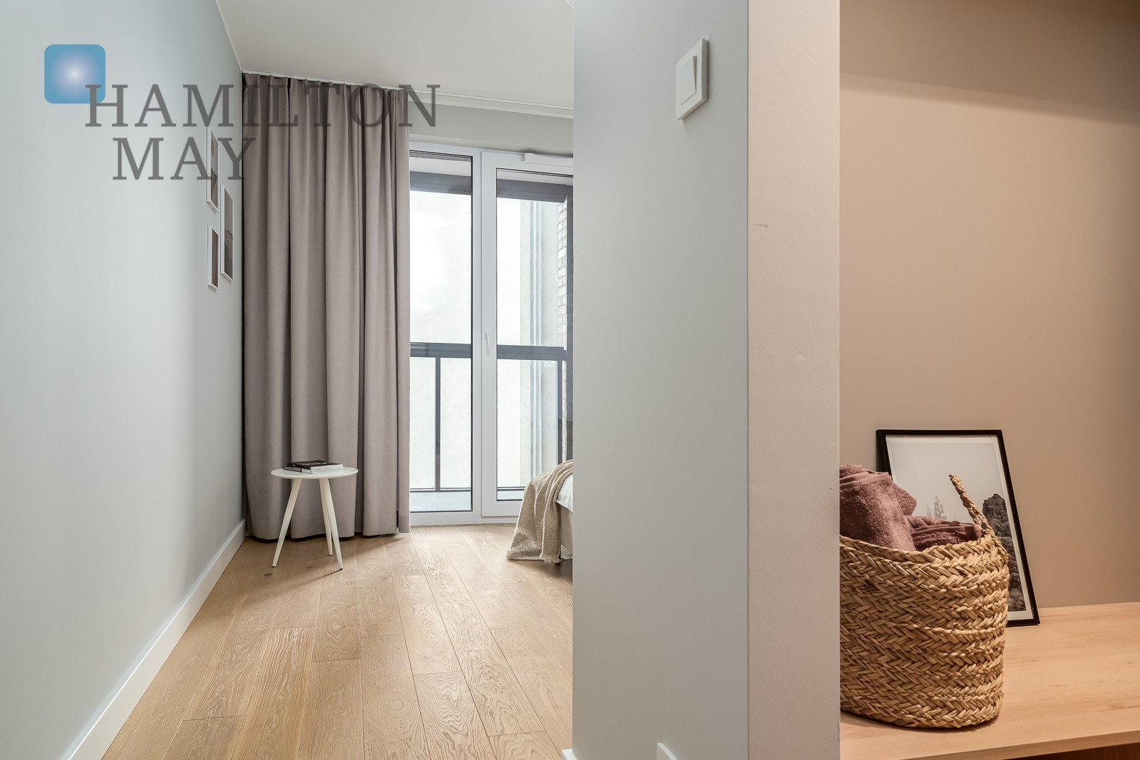 A new spacious three-room apartment with two balconies next to the Szwedzka metro station Warsaw for rent