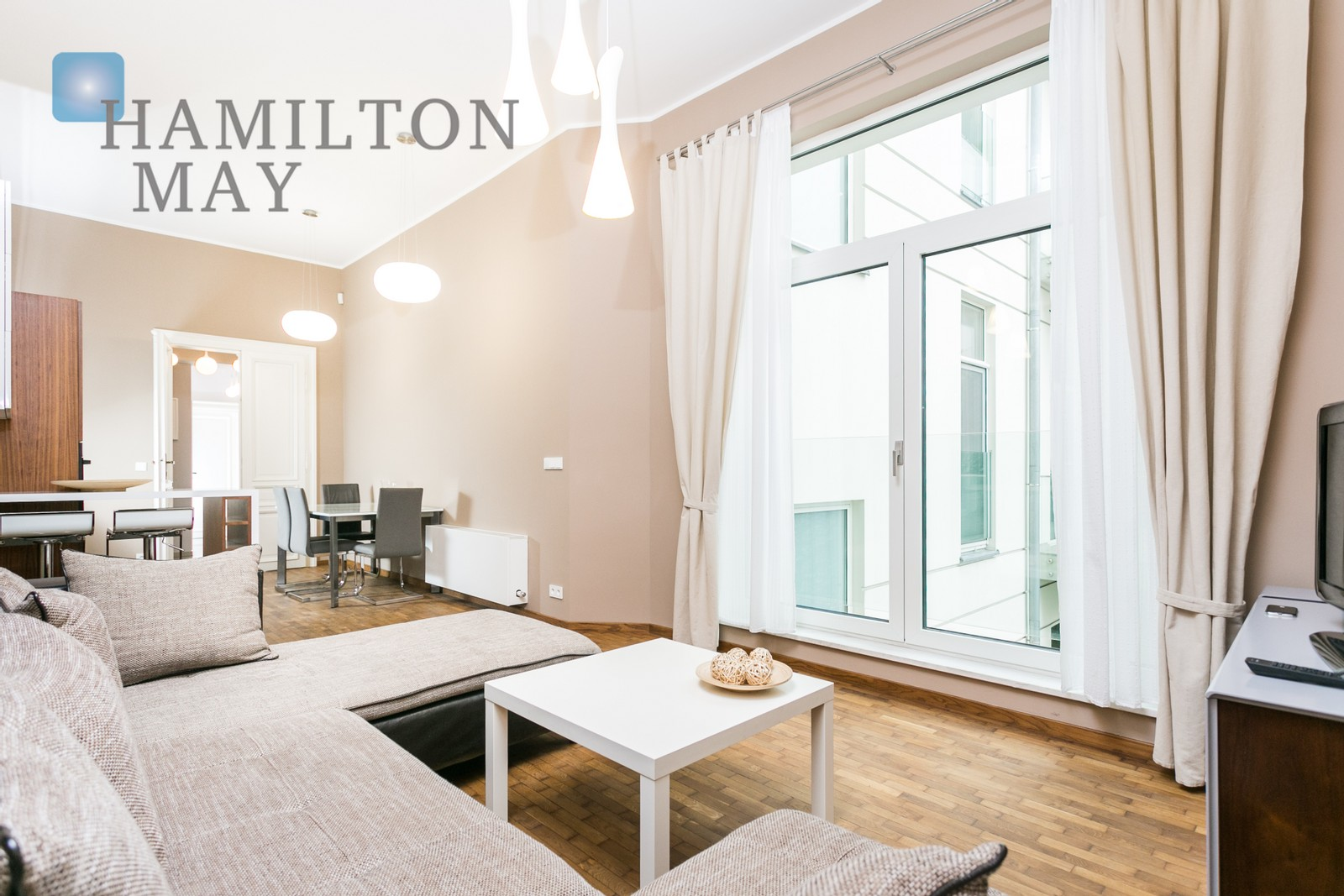 Luxuriously equipped, air-conditioned apartment in a modern building in the city center Krakow for rent