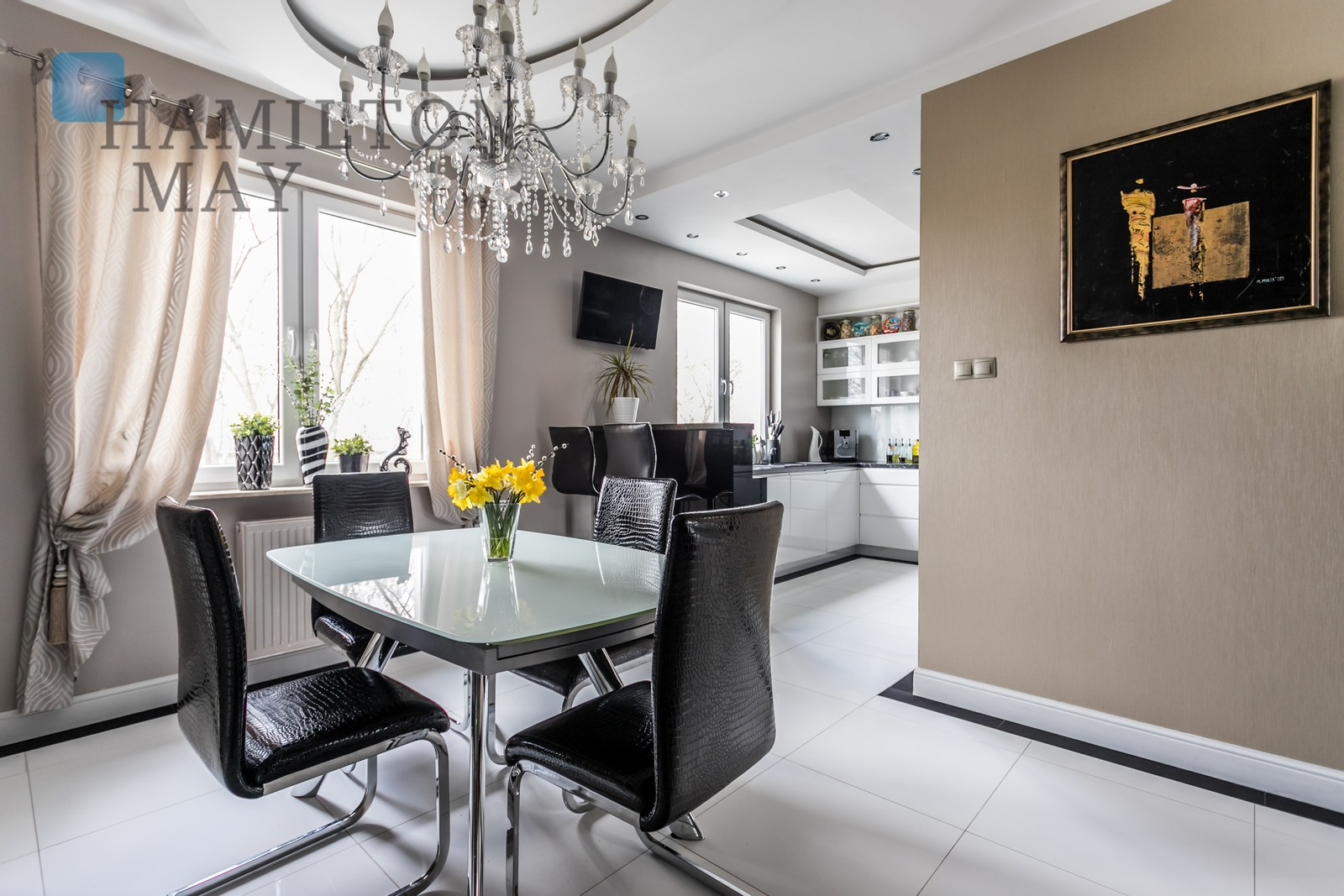 Stylish finish three bedroom, two level apartment in Wola close to metro Warsaw for sale