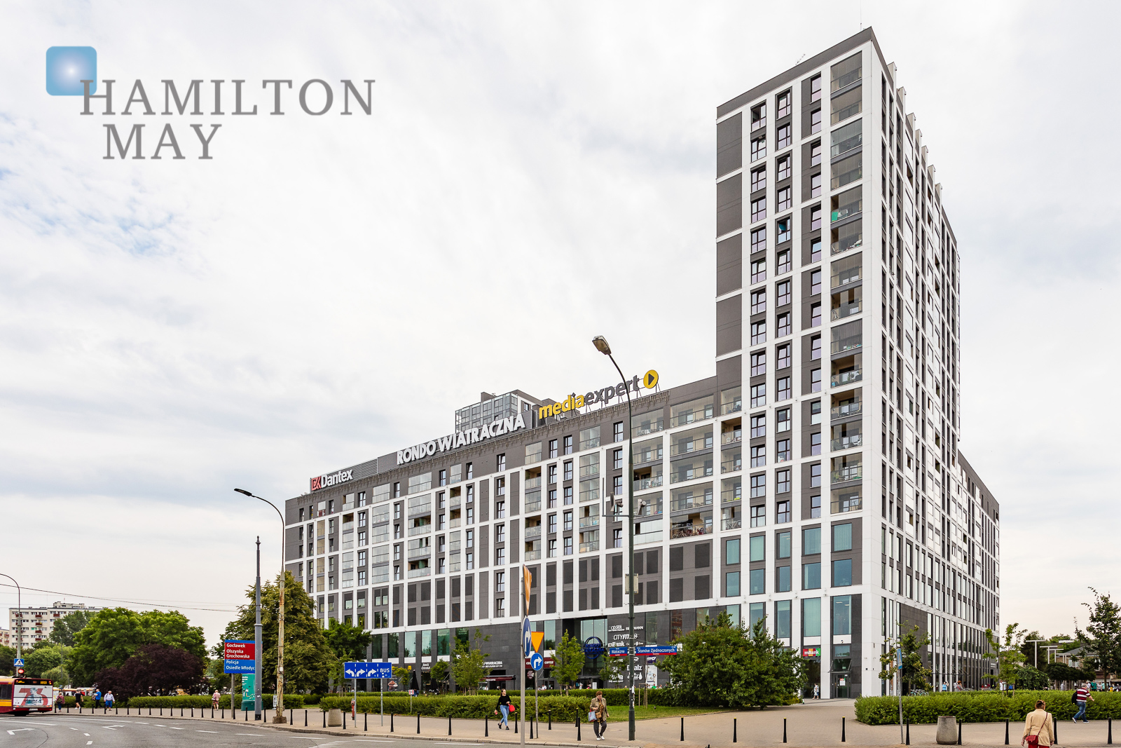 """Apartment in the investment """"Rondo Wiatraczna"""" on the 14th floor with a panoramic view of Warsaw Warsaw for rent"""