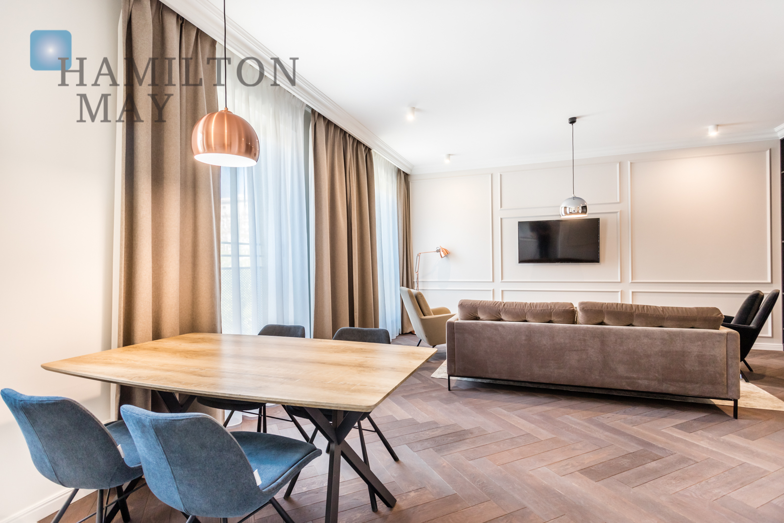 A luxurious one bedroom apartment in the city center Warsaw for rent