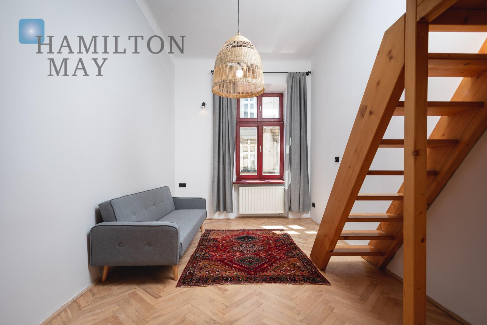 Charming one bedroom apartment on quiet Radziwiłłowska street Krakow for rent